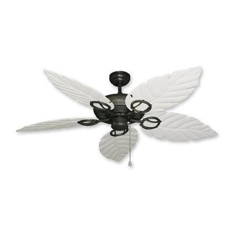 White Leaf Ceiling Fan by Gulf Coast Fans Ceiling Fan In Rubbed Bronze