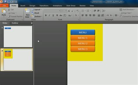 membuat menu drop down powerpoint cara membuat drop down menu pada power point heru satria