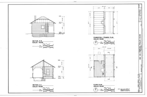 Bungalow Two Section Series by File Floor Plan Foundation Framing Plan Sections Boz