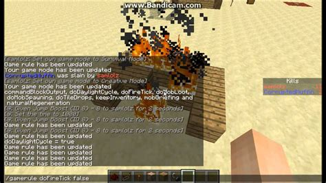 minecraft gamerule commands keep inventory no fire spread and more youtube