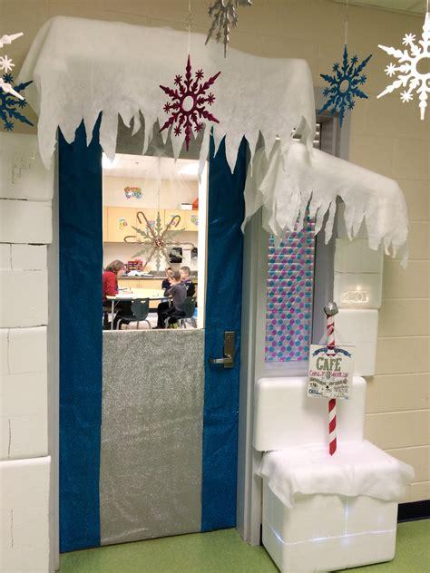 winter decorations classroom my winter classroom door ran to the speech room our doors are together