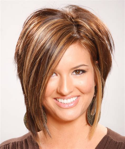 hairstyles with front highlights medium straight formal hairstyle light brunette chocolate