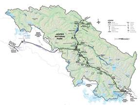 map of jasper summer in jasper national park jasper national park