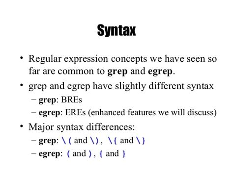 regex pattern grep regular expressions grep and egrep