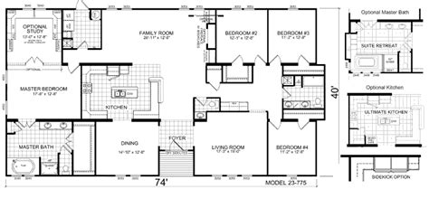 triple wide floor plans triple wide mobile home floor plans manufactured home
