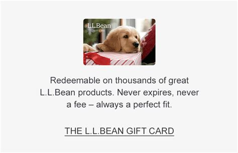 Ll Bean Gift Card Balance - l l bean the outside is inside everything we make