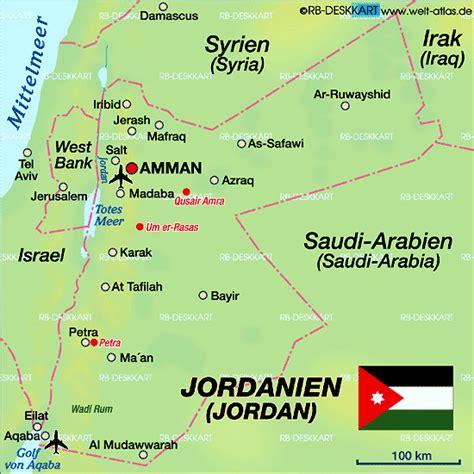 karte von jordanien land staat welt atlasde