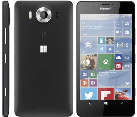 New Microsoft Lumia 950 microsoft s upcoming lumia 950 and 950 xl windows 10 flagship smartphones pictured in leaks