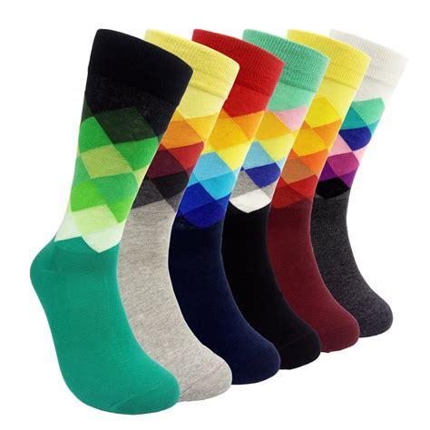 socks with hsell 6 packs color dress socks colorful rainbow