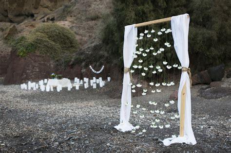 Bohemian beach wedding in Santorini  Tie the Knot in