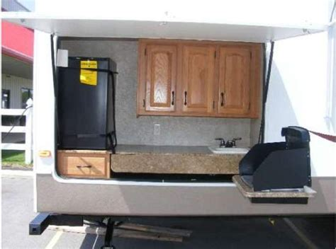 Kitchen Amusing Fifth Wheel With Outdoor Kitchen Luxury Rv With Outdoor Kitchen