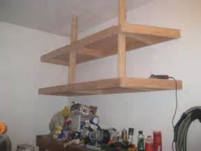 diy hanging garage shelves building garage shelves