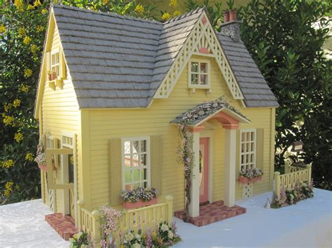 cottage dolls house dollhouses by robin carey the clematis cottage dollhouse