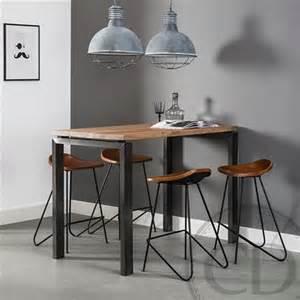 L Kitchen Layout table haute de cuisine industrielle pieds m 233 tal sur cdc design