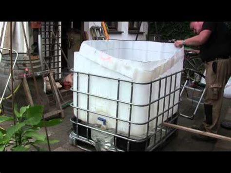 Outdoor Whirlpool Selber Bauen by Pool Bau Aus Einem 1000 L Ibc Tank Container