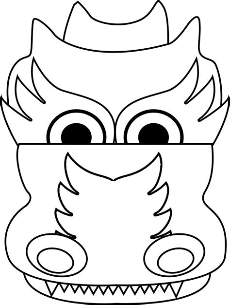 coloring pages of dragon heads chinese dragon head coloring page clipart best