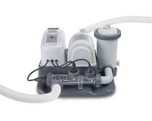 Salt Water Pool Pumps Intex Saltwater System And 1 200 Gph Pool Filter Pump