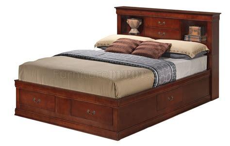jumbo bed g3100b jumbo storage bed by furniture in cherry