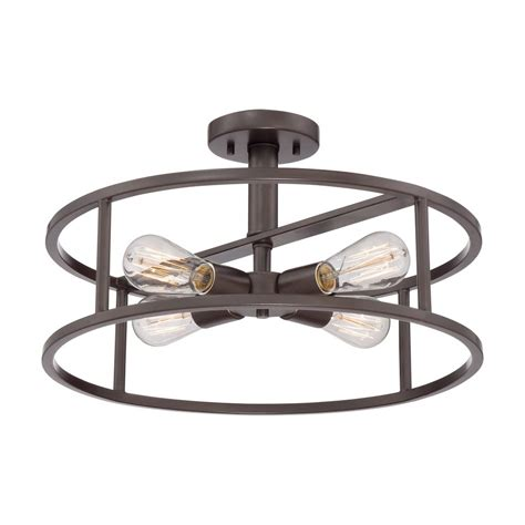 quoizel nhr1718wt new harbor large semi flush