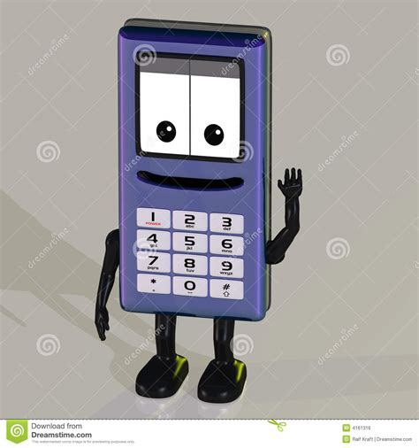 cartoon themes cell phone cartoon cell phone royalty free stock image image 4161316