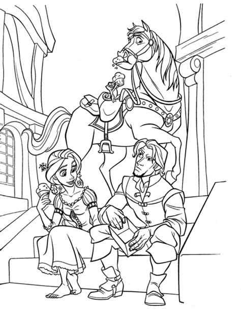disney princess coloring pages rapunzel and flynn get this disney princess rapunzel coloring pages 2n8gf