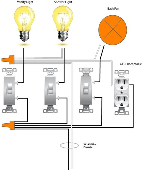 Bathroom Light And Fan Switch by Wiring Bathroom 1 Basement Remodel The O