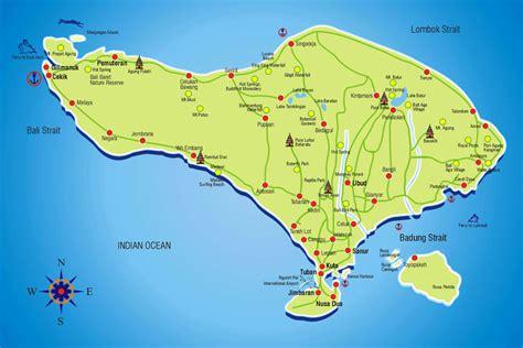 map of bali bali tourism board about bali bali map