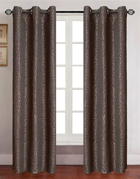 jacquard curtain panels pair of georgia sage jacquard window curtain panels w grommets