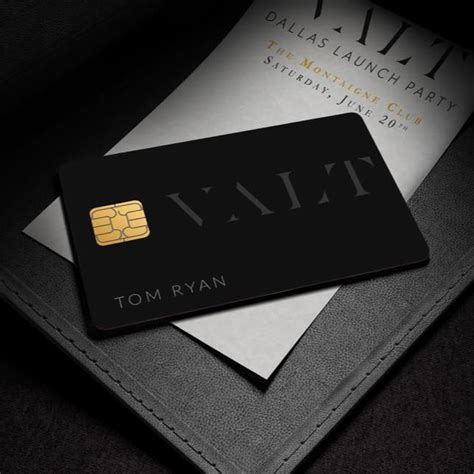 exclusive id card design valt launches exclusive black card for dallas ft worth