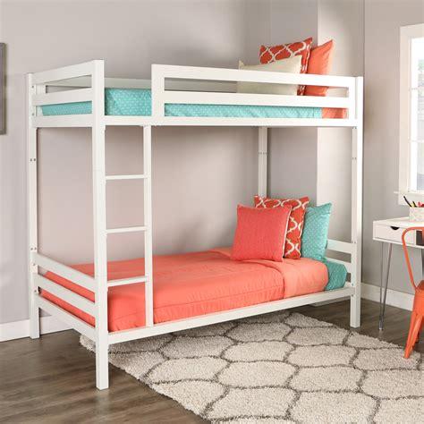 metal futon bentley metal bunk bed white by walker edison