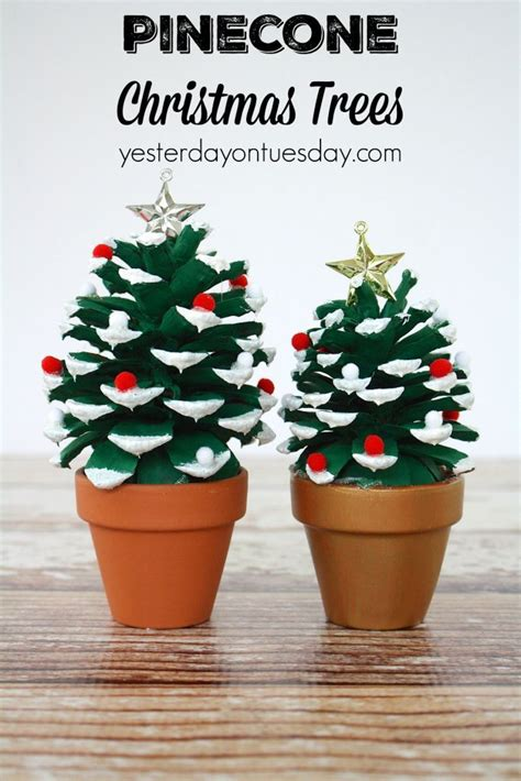 pine cone tree craft project best 25 pinecone crafts ideas on easy