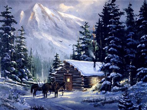 winter woods watercolor clip pine trees snow log cabin watercolor background mountain log cabins in snow mountain cabin mountain painting snow tree winter