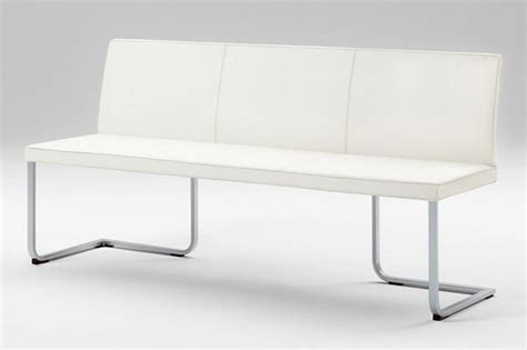 Exterior White Bench Modern Dining Bench Treenovation Modern Dining Tables With Benches