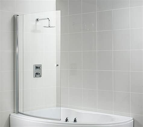 curved shower bath screen ideal standard create 955 975 x 1500mm curved shower