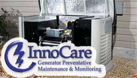 generator maintenance and monitoring with innocare