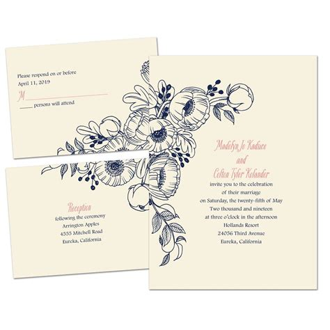 Wedding Posies by Penciled Posies Separate And Send Invitation S