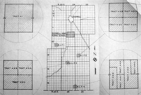 roswell texas map abandoned known airfields new mexico roswell area