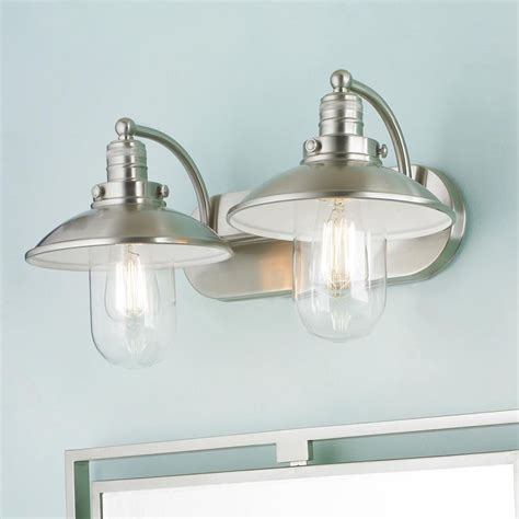 Retro Glass Globe Bath Light 2 Light Bathrooms Decor Light Fixture For Bathroom