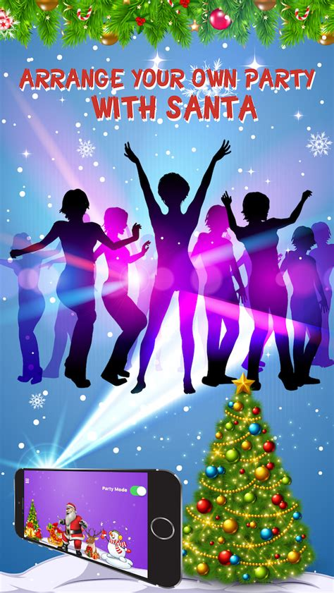 dance party light show dance with santa claus merry christmas party light