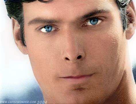 superman eye color christopher reeve
