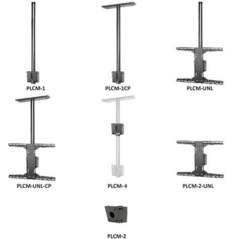 Model Ceiling Mount by Peerless Column Ceiling Mount For 32 71 Inch Screens Plcm