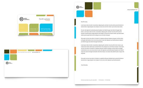 arts council education business card letterhead