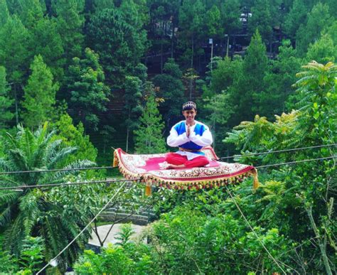 Karpet Bandung tantang adrenalin dengan naik permadani terbang ala aladin