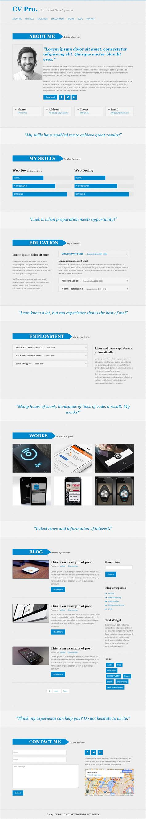 theme drupal cv 5 best responsive bootstrap drupal themes in 2015