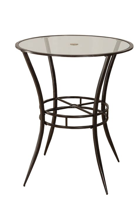 hillsdale 6323ptb indoor outdoor bar height bistro table antique black hd 6323ptb at