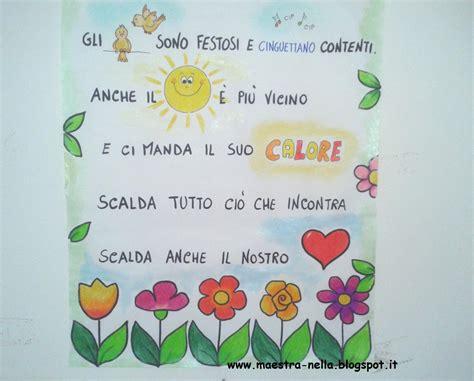 fiori e fantasia testo maestra nella primavera poesia illustrata
