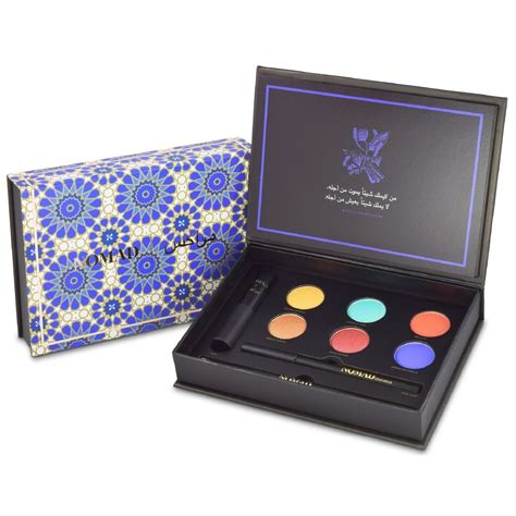 nomad x marrakesh all in one makeup palette with mascara eyeliner eyeshadows brush all