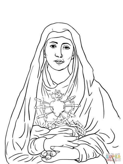 desenho de sete dores de maria para colorir desenhos