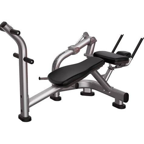 abs crunch bench life fitness signature series ab crunch bench fitness expo
