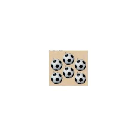candele per torte candeline a tema calcio in confezione da 6 pezzi a forma